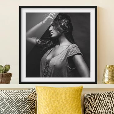 Product picture Framed print - Dorine - Square Format...
