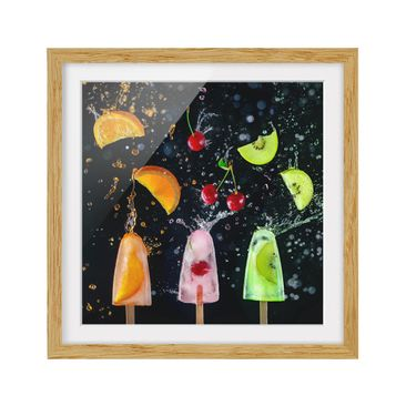 Product picture Framed print - Popsicle - Square Format...
