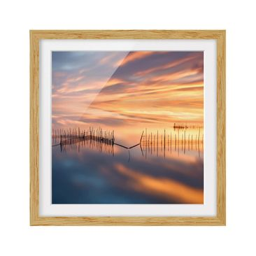 Product picture Framed print - Fishing Nets - Square...