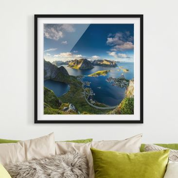 Product picture Framed print - Fjord In Reinebringen -...
