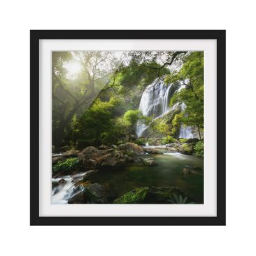 Product picture Framed print - Mountain Stream - Square...