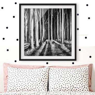 Product picture Framed print - Forest Of Ghosts - Square...