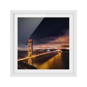 Product picture Framed print - Golden Gate To Stars -...
