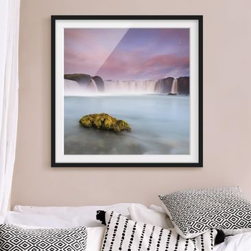 Product picture Framed print - Goðafoss And The Moon -...