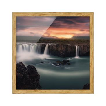 Product picture Framed print - Goðafoss Waterfall In...