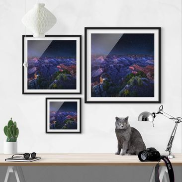 Product picture Framed print - Grand Canyon Night -...