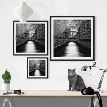 Product picture Framed print - Hamburg'S Other Side -...