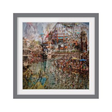 Product picture Framed print - Holy India - Square...
