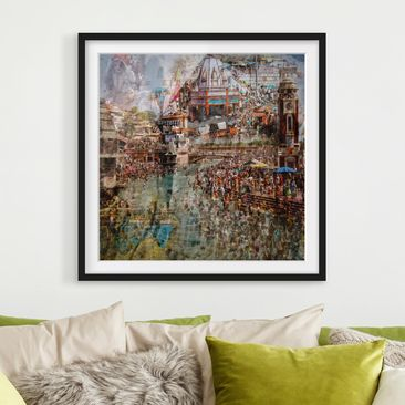 Produktfoto Framed print - Holy India - Square...