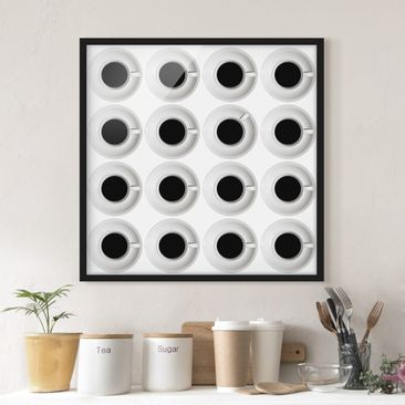 Product picture Framed print - Coffeehouse - Square...