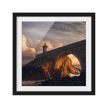 Product picture Framed print - Lighthouse At The Bridge...