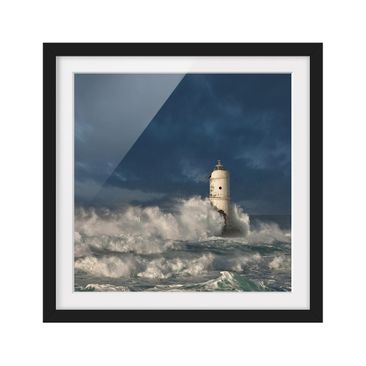 Product picture Framed print - Lighthouse In Sardinia -...