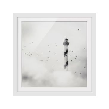 Product picture Framed print - Lighthouse In The Fog -...
