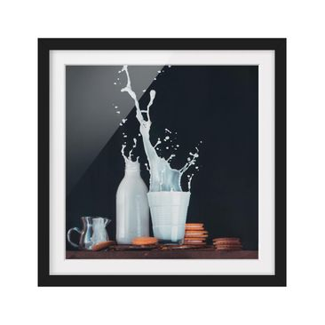 Product picture Framed print - Milk Composition - Square...