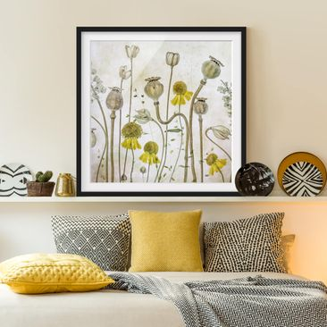 Product picture Framed print - Mohn And Helenium -...