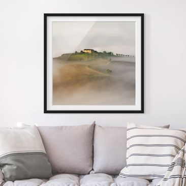 Product picture Framed print - Morning Fog In Tuscany -...