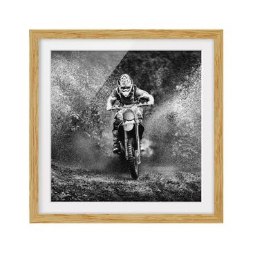 Product picture Framed print - Motocross In The Mud -...