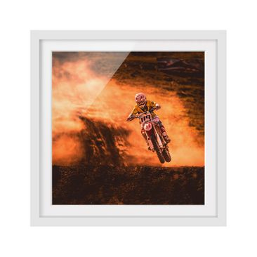 Product picture Framed print - Motocross In The Dust -...