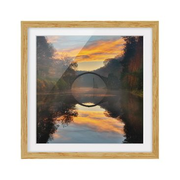 Product picture Framed print - Fairytale Bridge - Square...