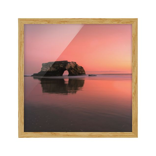 Immagine del prodotto Poster con cornice - Natural Bridge In The Sunset - Quadrato 1:1