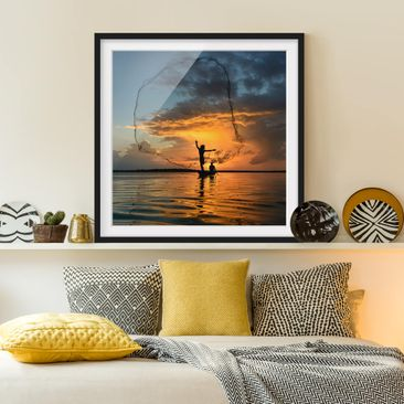 Product picture Framed print - Net In The Sunset -...