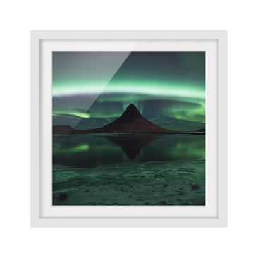 Product picture Framed print - Aurora In Iceland -...
