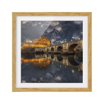 Product picture Framed print - Ponte Sant'Angelo In Rome...