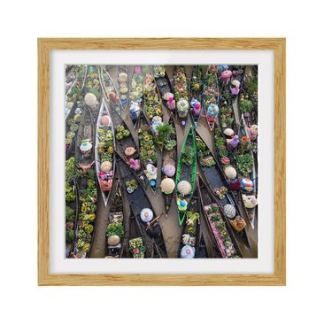 Product picture Framed print - Floating Market - Square...