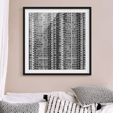 Product picture Framed print - Skyscraper - Square...