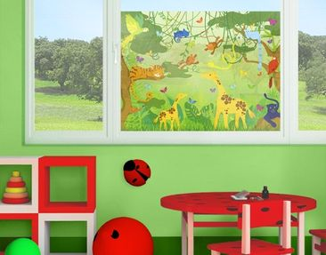 Product picture Window Mural no.IS87 Jungle Playground