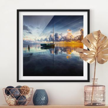 Product picture Framed print - Time For Reflection -...