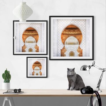 Product picture Framed print - Gate Of Mosque - Square...
