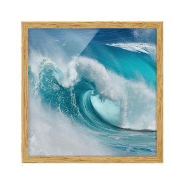 Product picture Framed print - Raging Waves - Square...
