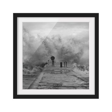 Product picture Framed print - Raging Sea - Square...