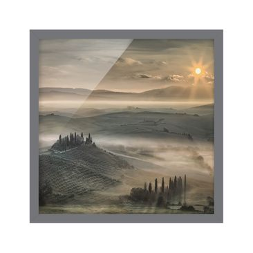 Product picture Framed print - Tuscany Morning - Square...