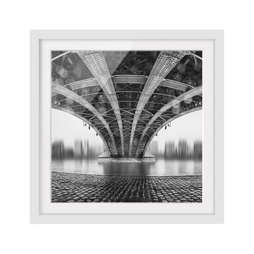 Product picture Framed print - Under The Iron Bridge -...
