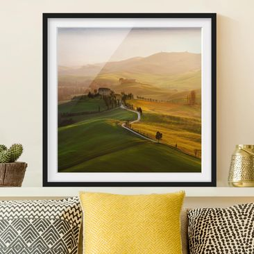 Product picture Framed print - Val D'Orcia - Square...