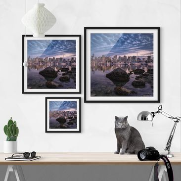 Product picture Framed print - Vancouver At Sunset -...