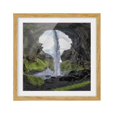 Product picture Framed print - Hidden Waterfall - Square...