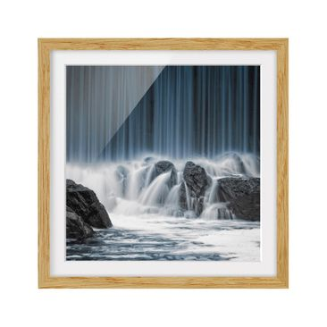 Product picture Framed print - Waterfall In Finland -...