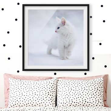 Product picture Framed print - White As Snow - Square...