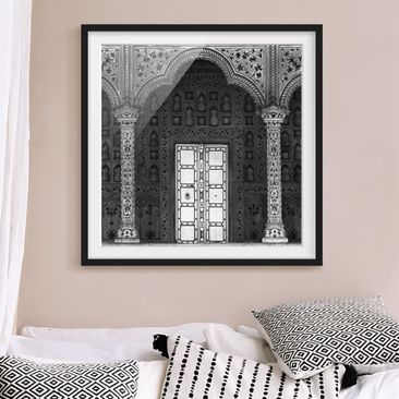 Product picture Framed print - White Door - Square...