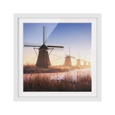 Product picture Framed print - Windmills Of Kinderdijk -...