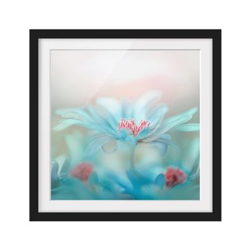 Product picture Framed print - Gentle Flowers In Pastel...