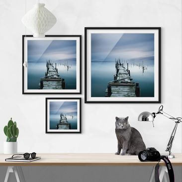 Product picture Framed print - Timeless Jetty - Square...