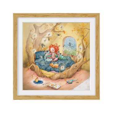 Product picture Framed print - Frida Cuddles Her Friends...