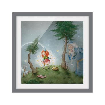 Product picture Framed print - Frida Sets The Star Free...