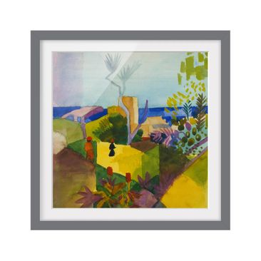 Product picture Framed print - August Macke - Landscape...