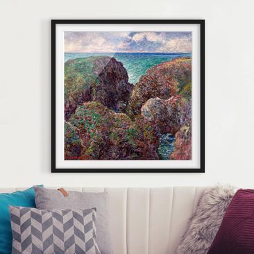 Product picture Framed print - Claude Monet - Rock Group...