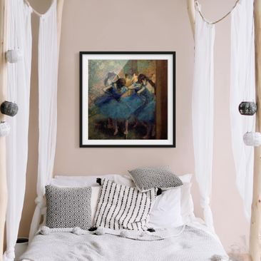 Product picture Framed print - Edgar Degas - Blue...